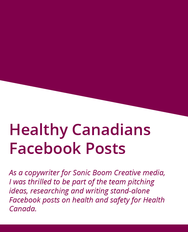 Healthy Canadians Facebook posts