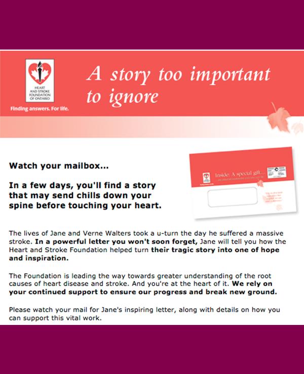 Heart & Stroke Foundation, e-push