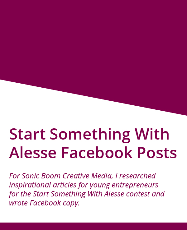 Start Something with Alesse Facebook posts