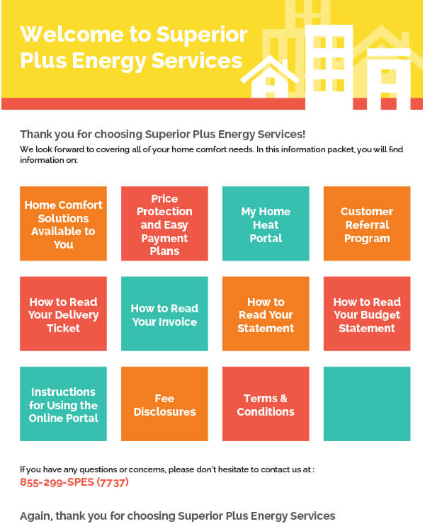 Superior Plus Energy Service, Welcome Kit