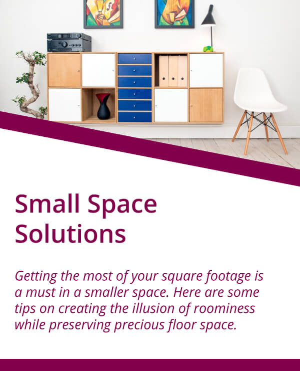 Real Estate Blog, Small Space Solutions